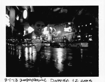 3.1.13. Broadway, Nashville, TN. Double exposure FP-3000b Polaroid 250